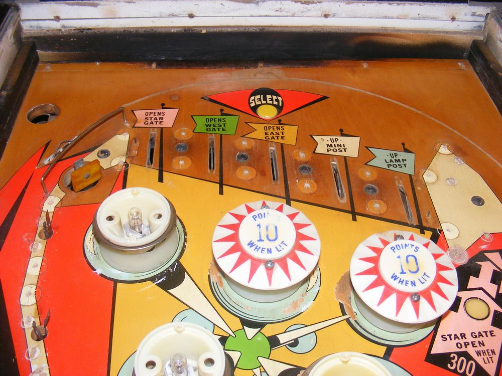 Top Playfield After First Cleaning