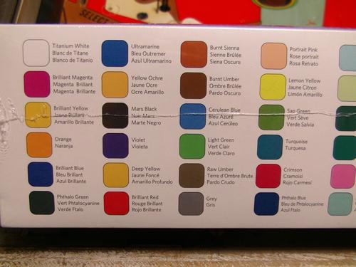 Playfield Touch-Up Paints Colors 1-24