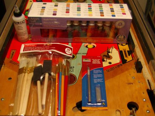 Playfield Touch-Up Tools